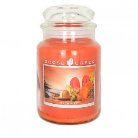 Bougie parfumée Grande Jarre 2 mèches BEACH PARTY Goose Creek Candle US