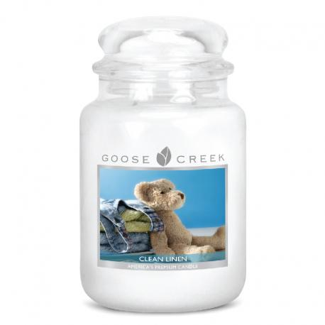Bougie parfumée Grande Jarre 2 mèches CLEAN LINEN Goose Creek Candle US USA