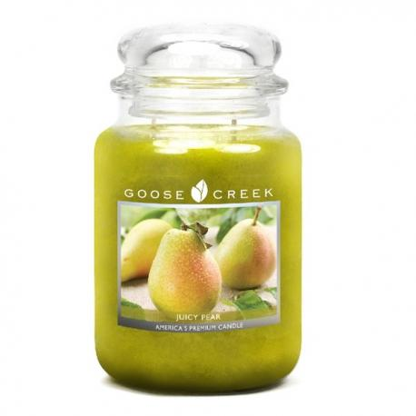 Bougie parfumée Grande Jarre 2 mèches JUICY PEAR Goose Creek Candle US USA