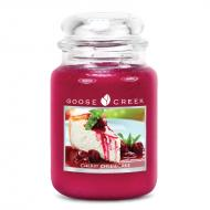 Bougie parfumée Grande Jarre 2 mèches CHERRY CHEESECAKE Goose Creek Candle US USA