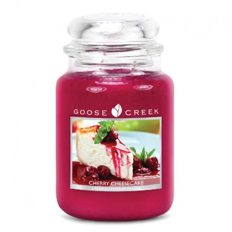 Bougie parfumée Grande Jarre 2 mèches CHERRY CHEESECAKE Goose Creek Candle US USA