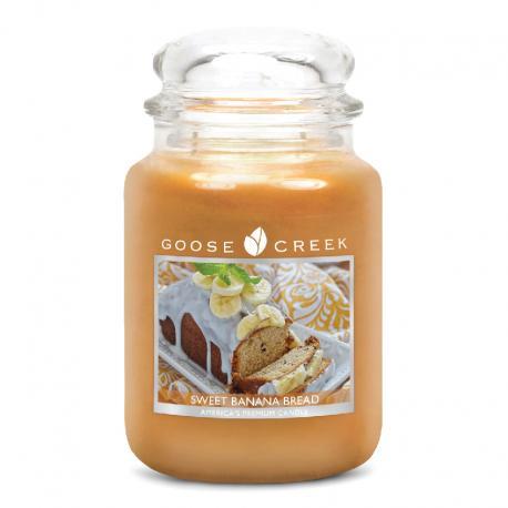 Bougie parfumée Grande Jarre 2 mèches SWEET BANANA BREAD Goose Creek Candle US USA