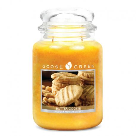 Bougie Grande Jarre 2 mèches BUTTER COOKIE Goose Creek Candle