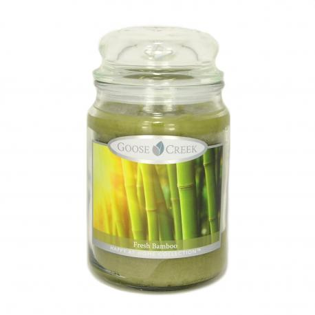 Bougie parfumée Grande Jarre 2 mèches FRESH BAMBOO Goose Creek Candle USA