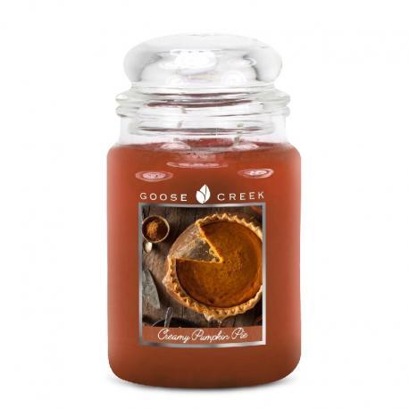 Bougie parfumée Grande Jarre 2 mèches CREAMY PUMPKIN PIE Goose Creek Candle US USA