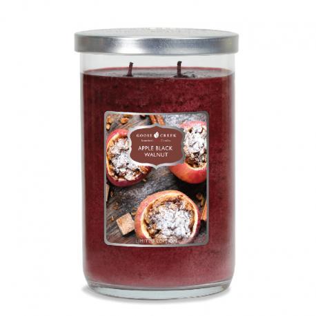 Bougie parfumée Tumbler 2 mèches APPLE BLACK WALNUT Goose Creek Candle US USA