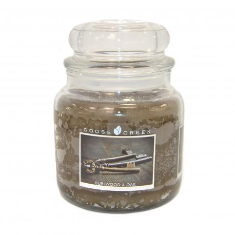 Bougie parfumée Moyenne Jarre 2 mèches BURLWOOD & OAK Goose Creek Candle US USA
