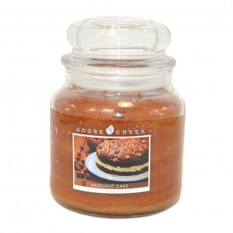 Bougie parfumée Moyenne Jarre 2 mèches HAZELNUT CAKE Goose Creek Candle US USA