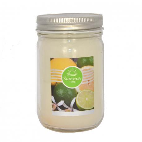 Bougie parfumée Mason Jar LIME & SHINE Goose Creek Candle US USA