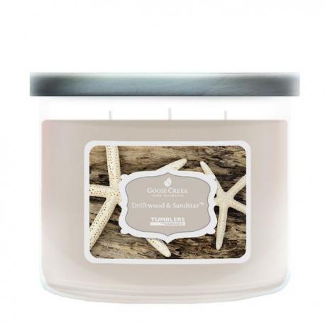 Bougie parfumée Tumbler 3 mèches DRIFTWOOD & SANDSTAR Goose Creek Candle US USA