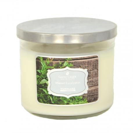 Bougie Tumbler 3 mèches MINTED EUCALYPTUS Goose Creek Candle