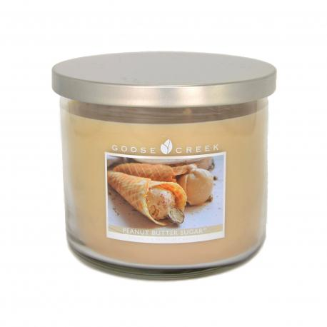 Bougie parfumée Tumbler 3 mèches PEANUT BUTTER SUGAR Goose Creek Candle US USA
