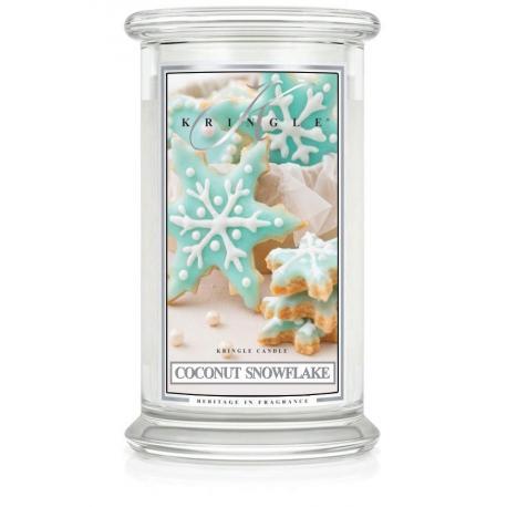 Bougie parfumée Grande Jarre 2 mèches COCONUT SNOWFLAKE Kringle Candle
