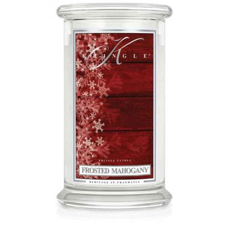 Grande Jarre 2 mèches FROSTED MAHOGANY Kringle Candle Made in USA