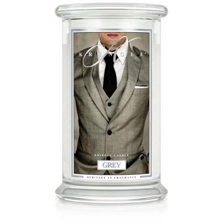 Grande Jarre 2 mèches GREY Kringle Candle bougie parfumée