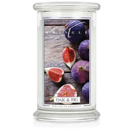 Bougie parfumée Grande Jarre 2 mèches OAK & FIG Kringle Candle US USA