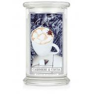 Grande Jarre 2 mèches CASHMERE AND COCOA Kringle Candle Bougie parfumée US