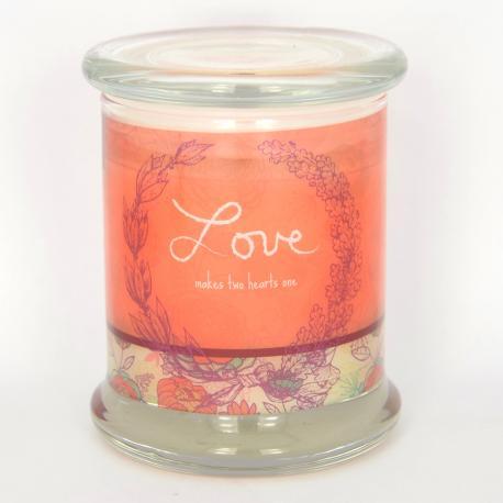 Bougie parfumée LOVE - VANILLA BEAN Woodwick candle US USA Saint Valentin