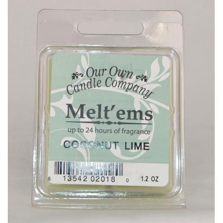 Carrés de cire parfumée COCONUT LIME Our Own Candle Company
