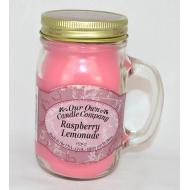 Bougie Mason Jar RASPBERRY LEMONADE Our Own Candle Company