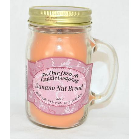 Bougie Mason Jar BANANA NUT BRAED Our Own Candle Company