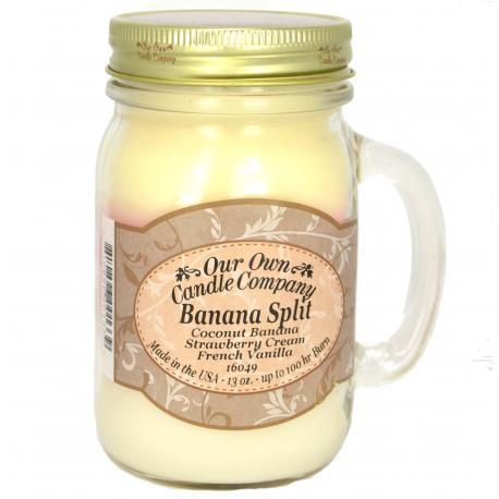 Bougie parfumée Mason Jar BANANA SPLIT Our Own Candle Company US USA
