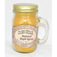 Bougie Mason Jar BUTTERED MAPLE SYRUP Our Own Candle Company
