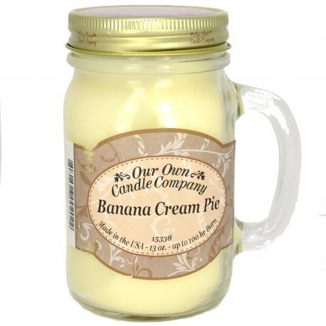 Bougie parfumée Mason Jar BANANA CREAM PIE Our Own Candle Company US USA