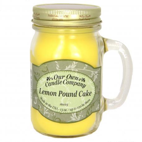 Bougie parfumée Mason Jar LEMON POUNDCAKE Our Own Candle Company US USA