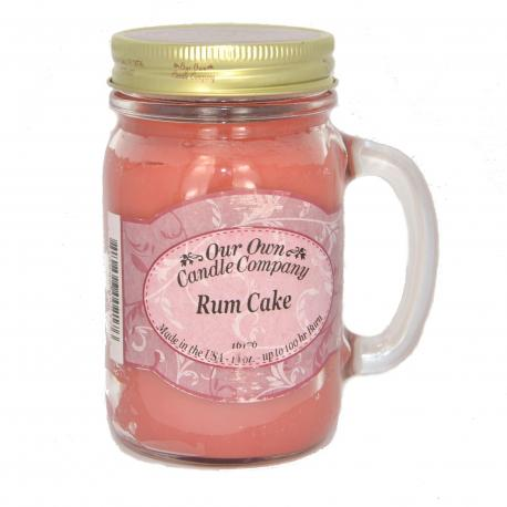 Mason Jar RUM CAKE Our Own Candle Company