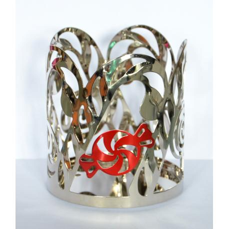 Jar Holder CANDY CANE Yankee Candle Peppermint Mosaic