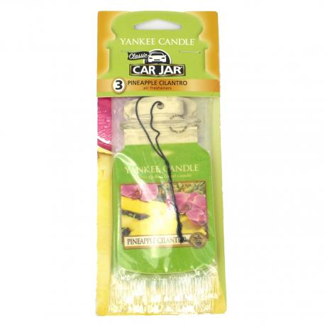 Combo Pack de 3 Car Jar PINEAPPLE CILANTRO Yankee Candle