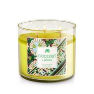 Bougie parfumée 3 mèches COCONUT LEAVES Bath and Body Works candle US USA