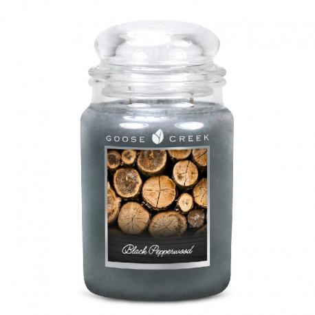 Grande Jarre 2 mèches BLACCK PEPPERWOOD Goose Creek Candle