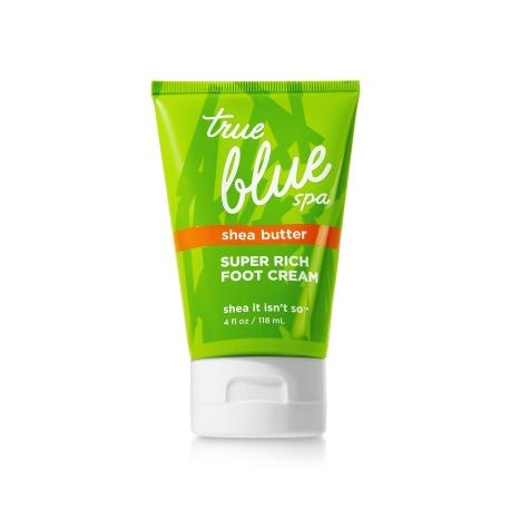 Crème pour les pieds SHEA IT ISN'T SO Bath and Body Works True Blue Spa foot cream US USA