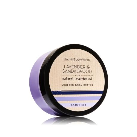 Beurre corporel LAVENDER & SANDALWOOD Bath and Body Works whipped body butter US USA