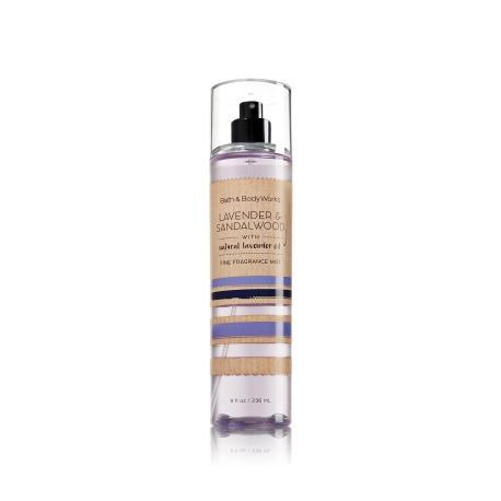 Brume parfumée LAVENDER & SANDALWOOD Bath and Body Works fragrance body mist US USA