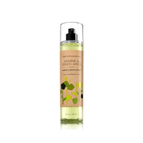 Brume parfumée JASMIN & GREEN APPLE Bath and Body Works fragrance body mist US USA