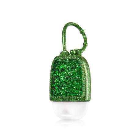 Pocketbac Holder GREEN GLITTER Bath and Body Works