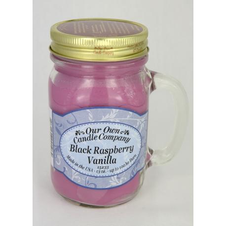 Bougie Mason Jar BLACK RASPBERRY VANILLA Our Own Candle Company