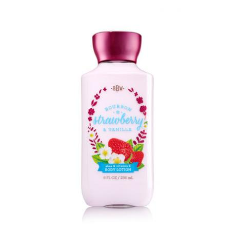 Lait pour le corps BOURBON STRAWBERRY & VANILLA Bath and Body Works body lotion US USA