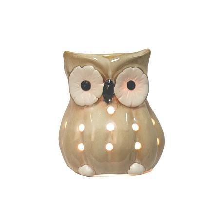 Brûleur électrique de cire OWL HIBOU BEIGE wax warmer
