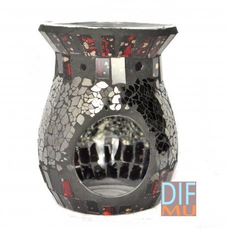Brûleur de tartelettes MOSAIC NOIR ROUGE wax burner