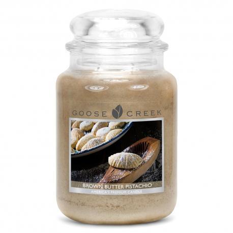 Bougie parfumée Grande Jarre 2 mèches BROWN BUTTER PISTACHIO Goose Creek Candle US USA