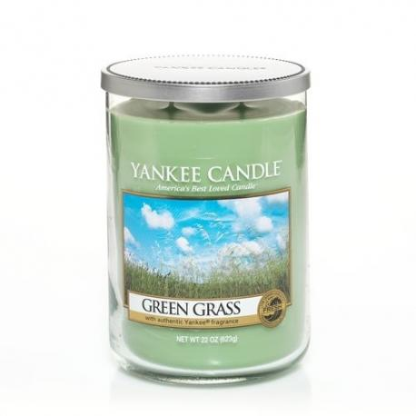 Bougie parfumée Grand Tumbler 2 mèches GREEN GRASS Yankee Candle exclu US USA