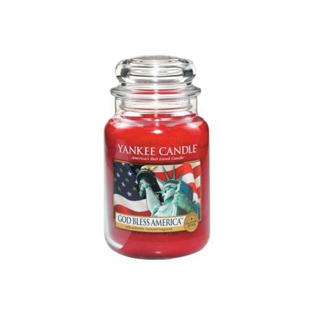 Bougie parfumée Grande Jarre  GOD BLESS AMERICA Yankee Candle exclu US USA