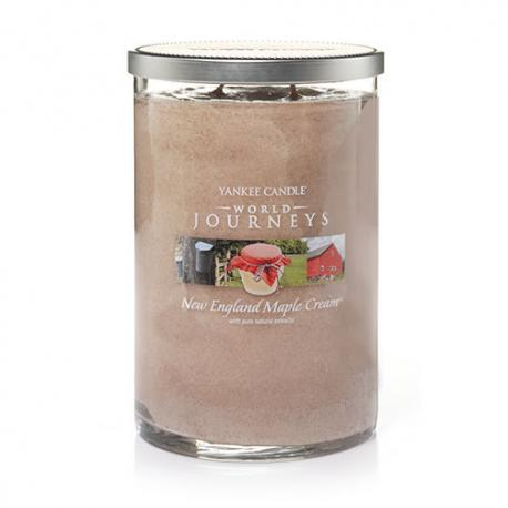 Bougie parfumée Grand Tumbler 2 mèches NEW ENGLAND MAPLE CREAM Yankee Candle exclu US USA World Journey's