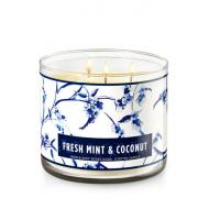 Bougie parfumée 3 mèches FRESH MINT & COCONUT Bath and Body Works candle US USA