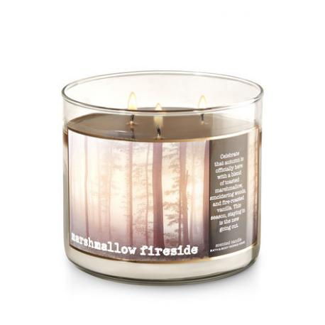 Bougie parfumée 3 mèches MARSHMALLOW FIRESIDE Bath and Body Works candle US USA