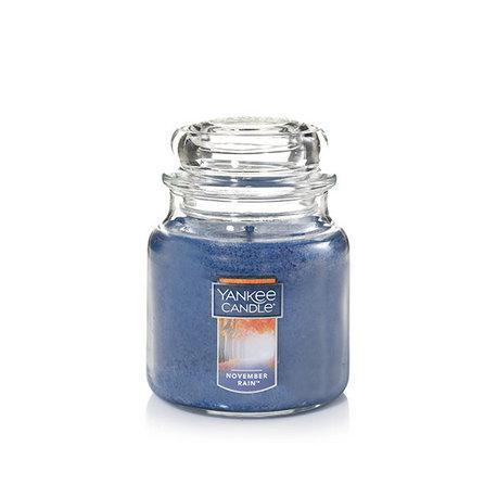 Bougie parfumée Moyenne Jarre NOVEMBER RAIN Yankee Candle exclu US USA